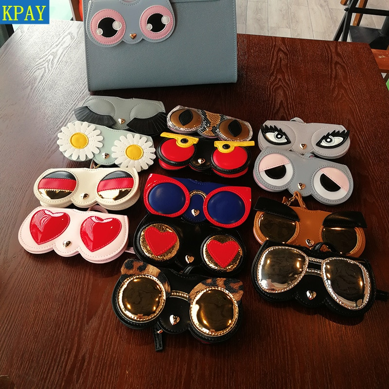 Animal Cartoon Fashion Hot Sale Women Portable Case PU Leather Sun Eye Glasses Box For Eyeglass Sunglasses Cute Protection Bag