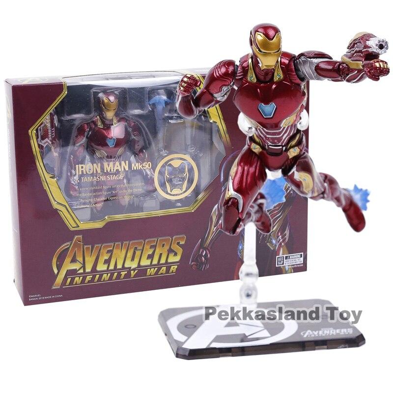 Iron Man MK50 & Tamashi Stage PVC+Metal Action Figure Collectible Model Toy
