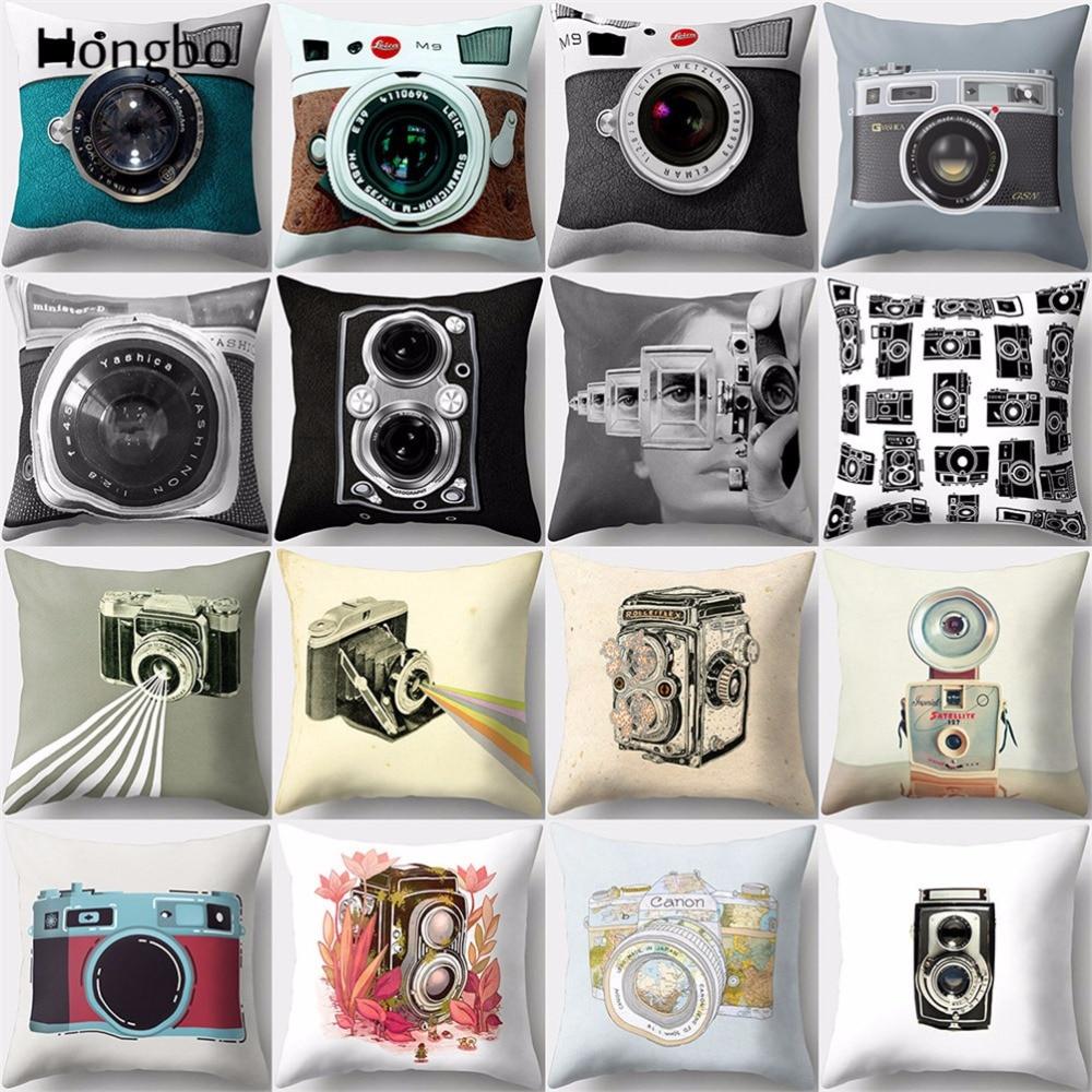 Хунбо 1 шт. винтажная Подушка камера чехол Ретро домашний Декор Подушка Чехол Диванные подушки Чехлы