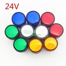 10 pièces AC/DC 24 V 22mm Filetage LED pour Lindicateur Électronique De Signalisation Cinq couleurs en option, défaut rouge AD16-22