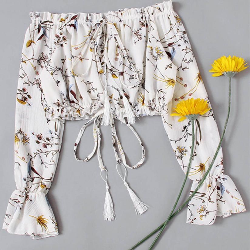 Blusa de chifón para verano 2019 Blusas femeninas manga completa Camisas de mujer Casual estilo coreano señoras camisetas @ 50