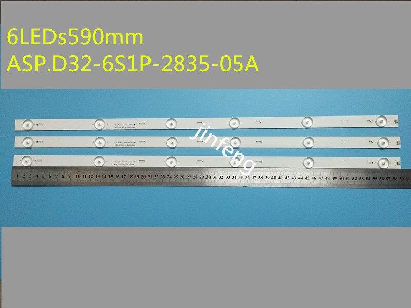 30 قطعة/lot6LED s590mm ASP.D32-6S1P-2835-05A