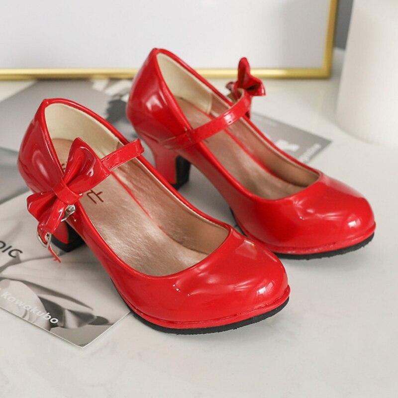 ULKNN Children's Shoes Girls High Heels Spring Tide Girl 2020 New Princess Shoes In Virgin Shoes High Heels Wholesale