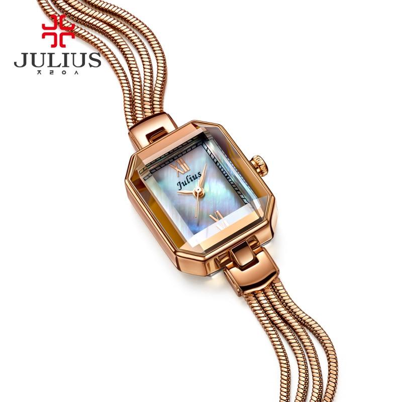 Relógio de Pulso Relógios de Quartzo Julius Famoso Feminino Mulher Moda Casual Presentes Femininos Relojes Hombre Relógio