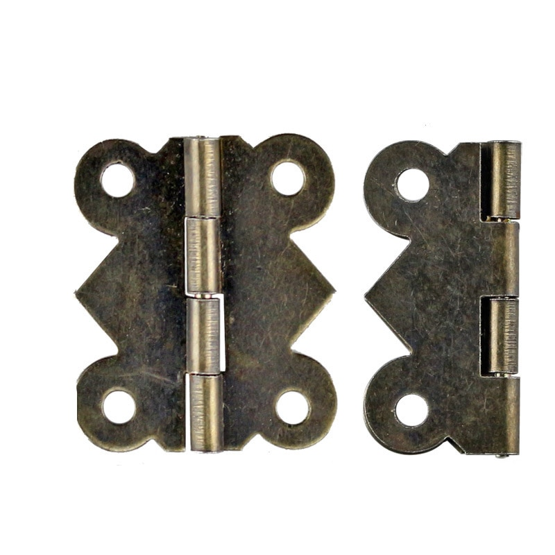 20 piezas 24x21MM de bisagra mariposa 90 grados pequeña bisagra bisagras para joyería de madera caja de soporte de conexión de Hardware