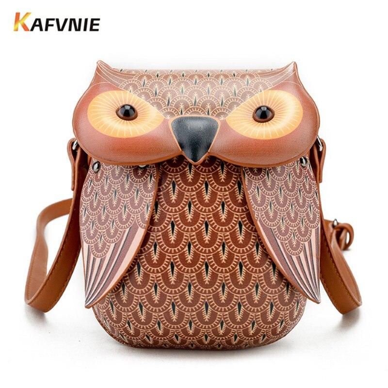 KAFVNIE, nuevo bolso de hombro bonito con búho, bolsos de mano para mujer, bolsas de mensajero para niñas, dibujos animados, con Bolso tipo bandolera para teléfono, bolso de búho
