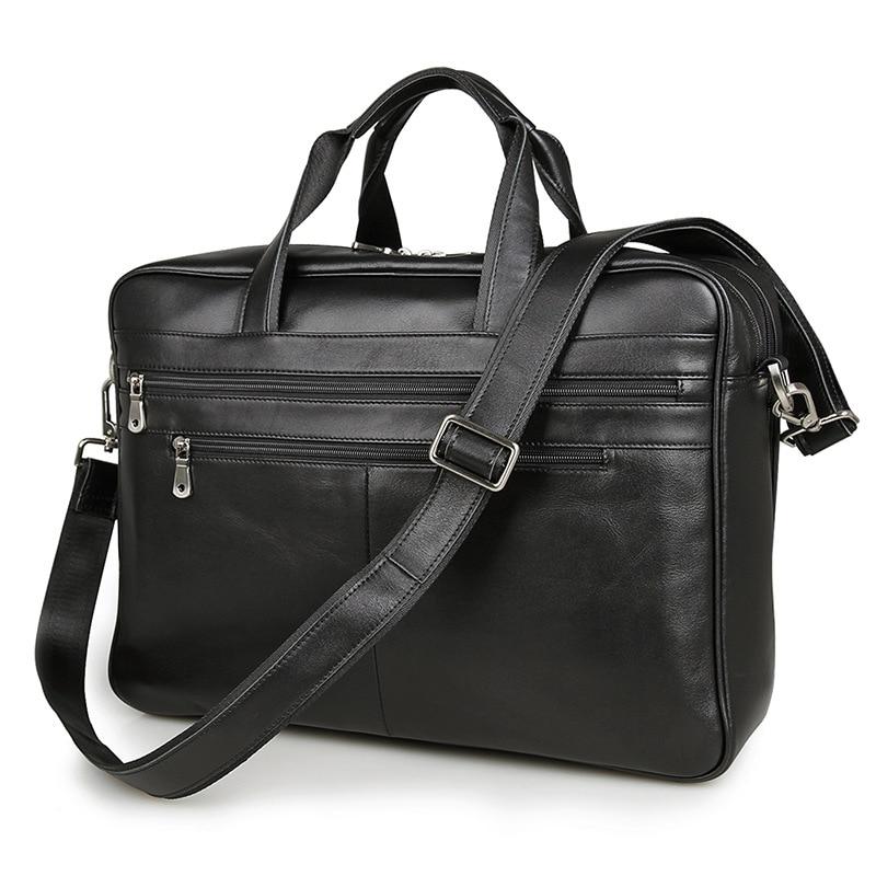 Сумка-мессенджер из натуральной кожи черного цвета, большие размеры, деловые дорожные сумки, портфель для ноутбука 15,6 дюйма, портфель # M7319