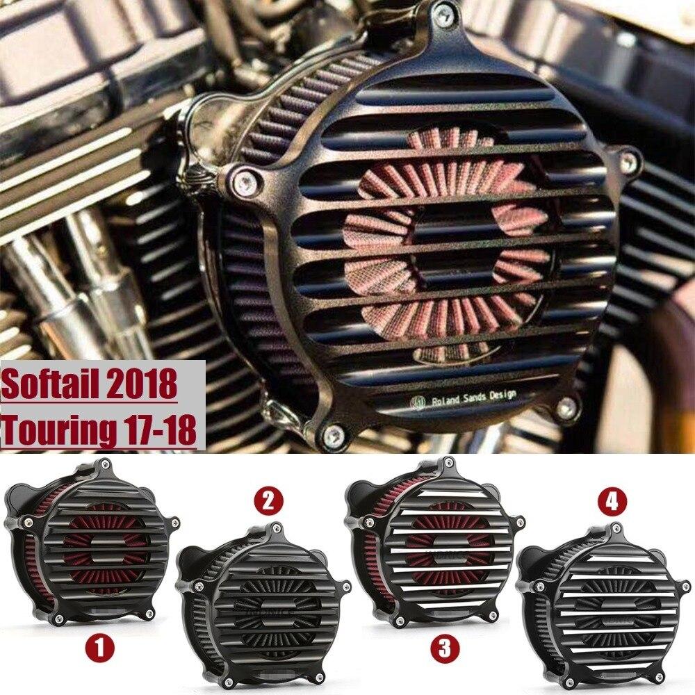 Nostalgia Venturi air intake para harley FLHR FLHT FLHX FLHXS touring CVO 107 114 117 filtro de ar do motor para softail2018 2017 2018