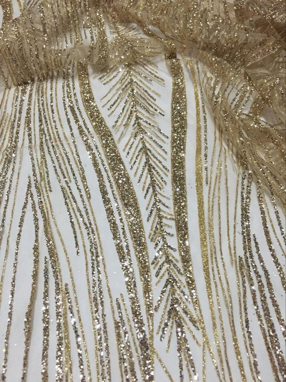 Nova chegada tecido de renda guipure com glitter SH Africano-0001 de Tule Tecido de Renda Mais Recente Tecido de Renda Francesa Africano