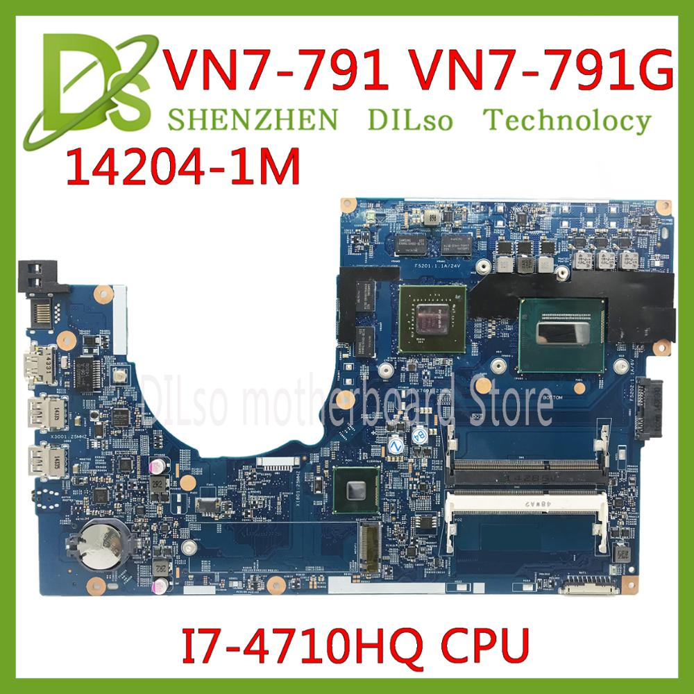 KEFU 14204-1 M 448.02G13.0 placa madre para Acer Aspire VN7-791 VN7-791G mianboard i7-4710HQ original trabajo