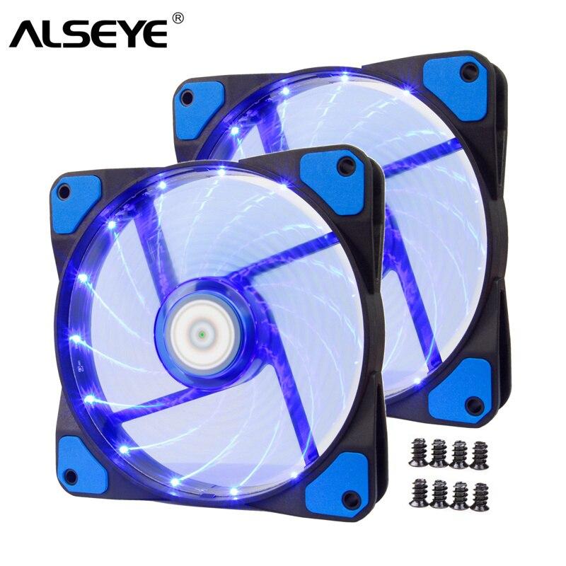 ALSEYE PC ventilateur de refroidissement 120mm refroidisseur Altra silencieux 3/4pin LED ventilateur pour ordinateur 1300 tr/min 12 v ventilateurs