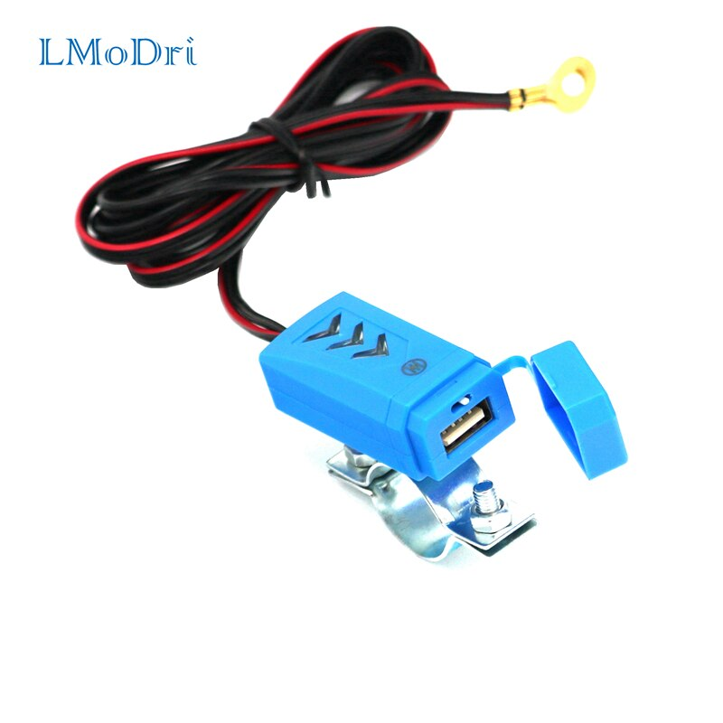 LMoDri nueva motocicleta cargador USB resistente al agua moto Teléfono de carga cargador de bicicleta eléctrica de alimentación con interruptor 5V