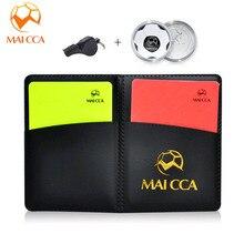 MAICCA darbitre De Football cartes avec pencel livre ensemble Mélanger unité Football siffle fort Fair-Play match équipement darbitre