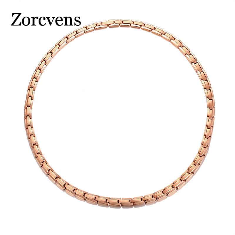 ZORCVENS-قلادة علاجية من الفولاذ المقاوم للصدأ للنساء ، جوهرة مغناطيسية مع قوة حيوية ، غير رسمية ، زينة أنثوية