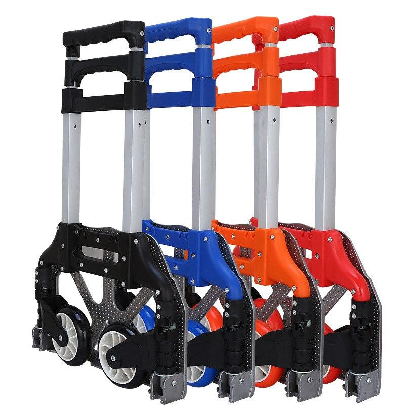 Licht carts folding aluminium-legierung griff wagen Klapp Tragbare hand trolley Gepäck Anhänger Supermarkt Einkaufswagen