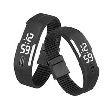 LED Sports Running Watch Date Rubber Bracelet Digital Wrist Watch Sports Watch Womens Mens 2018 New Arrival Fashion  reloj mujer