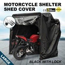 Grande tente résistante de stockage de couverture dabri de moto Stable aucune couture noire