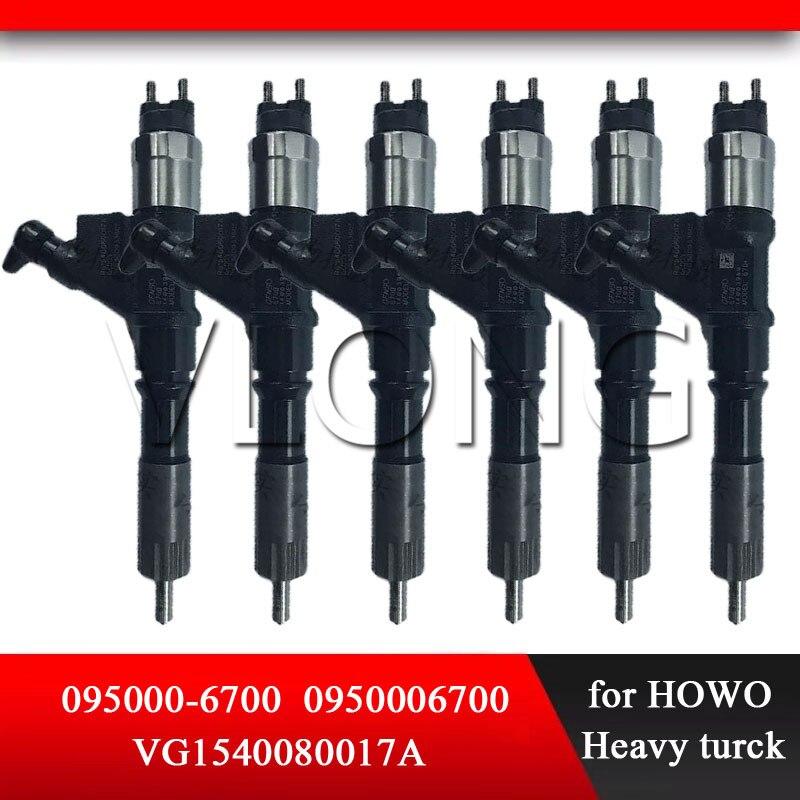 Inyector de piezas de repuesto de Common Rail genuino 095000-6700 (R61540080017A) inyección de combustible automática 095000-6701 095000-6702 para TOYOTA-HOWO