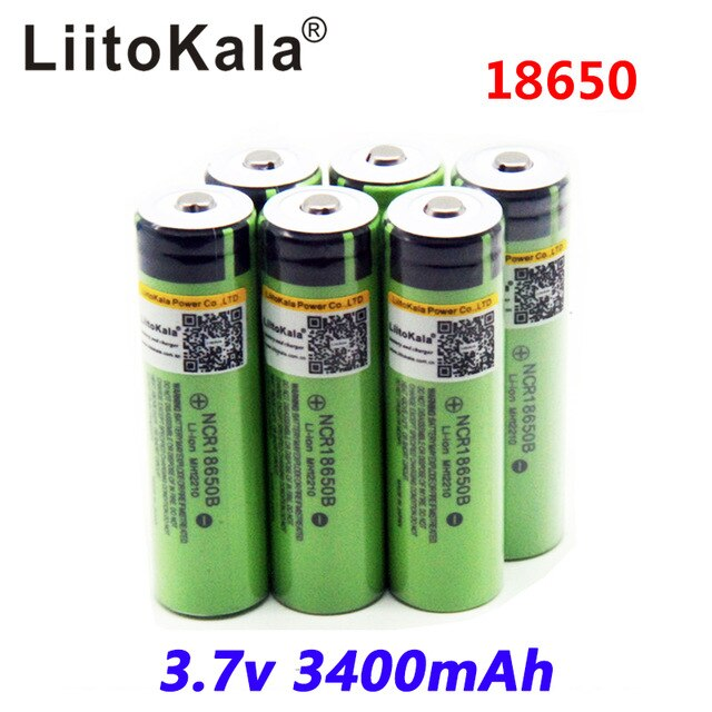 LiitoKala 2018 Оригинал 18650 3400 mAh PCB Protegido батарея 3,7 V Rechargebale li-ion батарея Para 18650B18650 3400