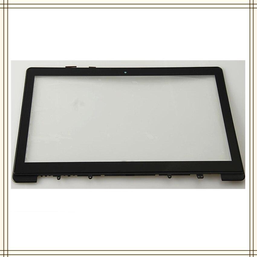 Alta calidad FP-TPAY15611A-01X touch panel de cristal para pantalla digitalizador con marco de piezas de repuesto para Asus S551 S551LB S551L S551LN