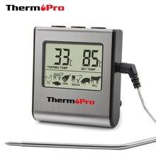 Цифровой термометр для духовки ThermoPro TP-16, ЖК-дисплей, термометр для мяса с таймером, Кухонный Термометр для приготовления молока и барбекю