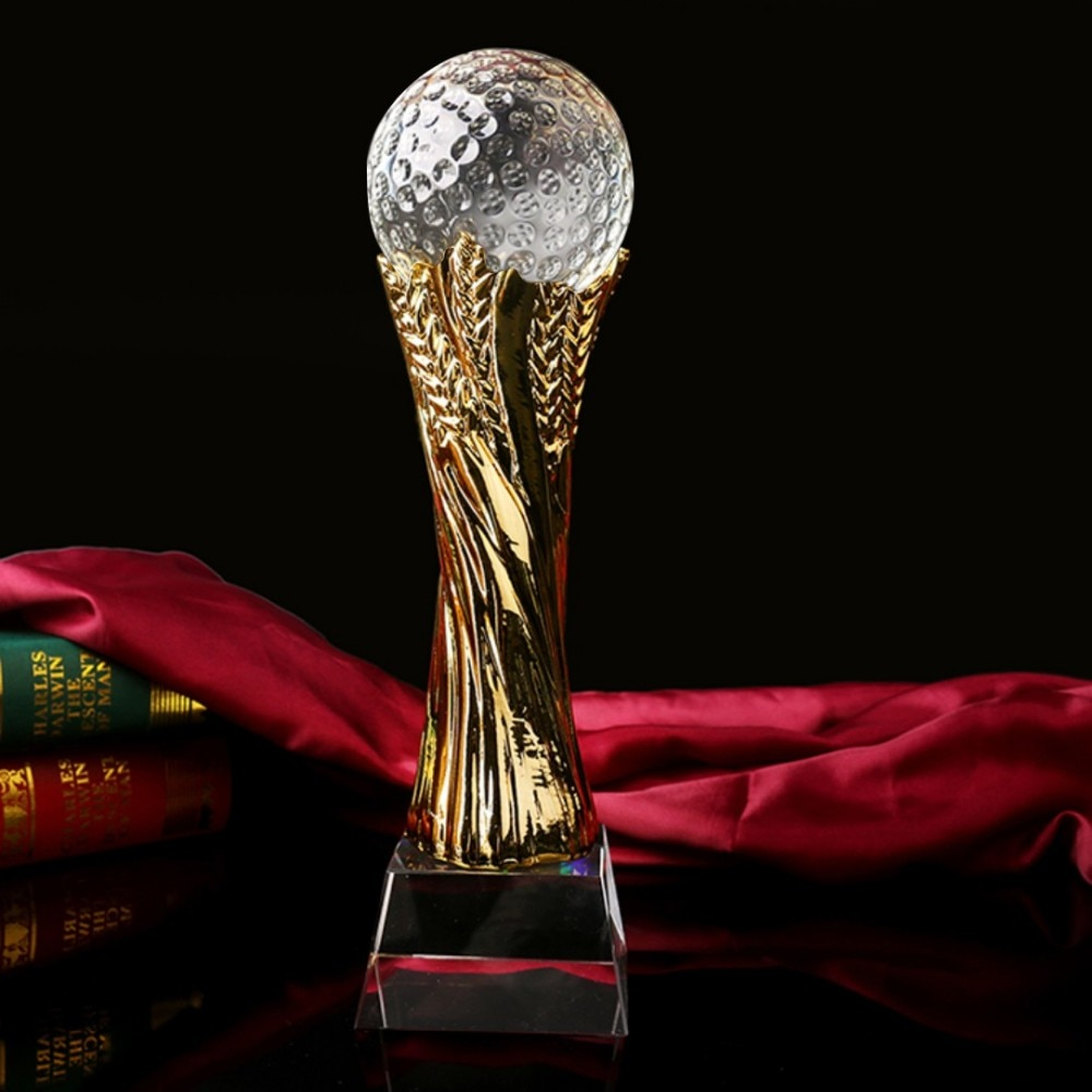 Alta calidad fútbol Baloncesto de cristal trofeo Copa de Oro tallar nombre para evento deportivo de gran tamaño