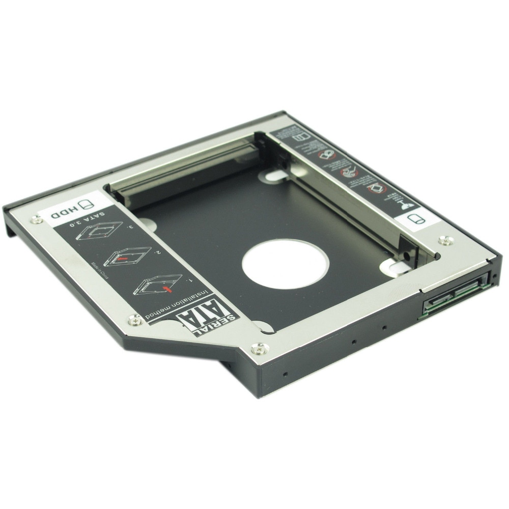 WZSM nuevo 9,5mm 2nd SATA HDD SSD Disco Duro Caddy para Acer...