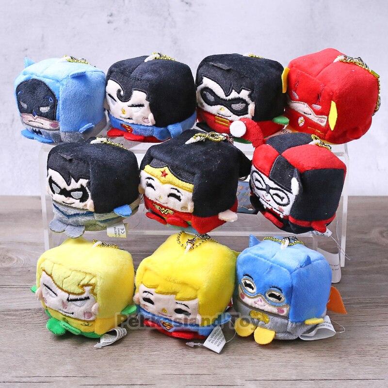 DC Batman Robin Superman Harley Quinn Supergirl el Flash Nightwing Aquaman pregunto mujer juguetes de peluche 10 unids/lote