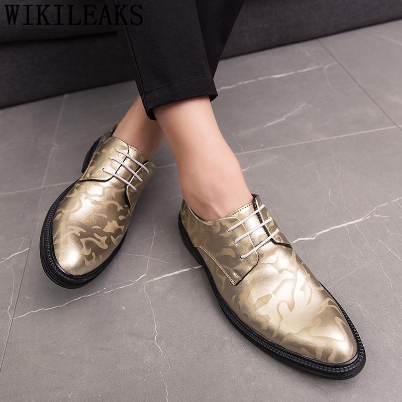 Elegant Shoes For Men Patent Leather Fashion Party Shoes For Men Italian Brand Wedding Shoes Men Formal Coiffeur Erkek Ayakkabi