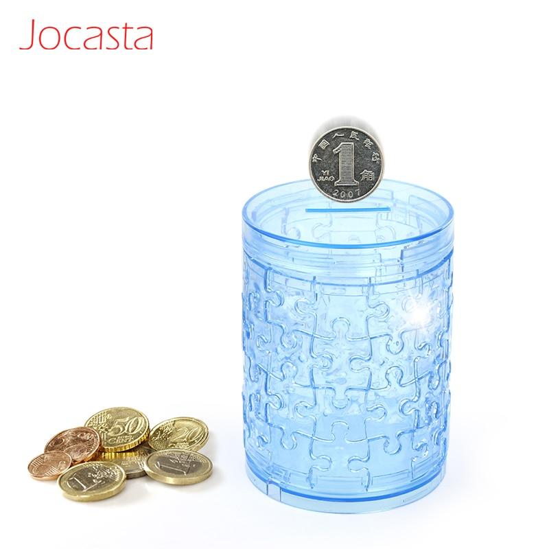 Conjunto de rompecabezas de cristal 3D DIY, hucha bonita, caja de dinero, rompecabezas, modelo de decoración, regalo creativo, juguetes para niños]
