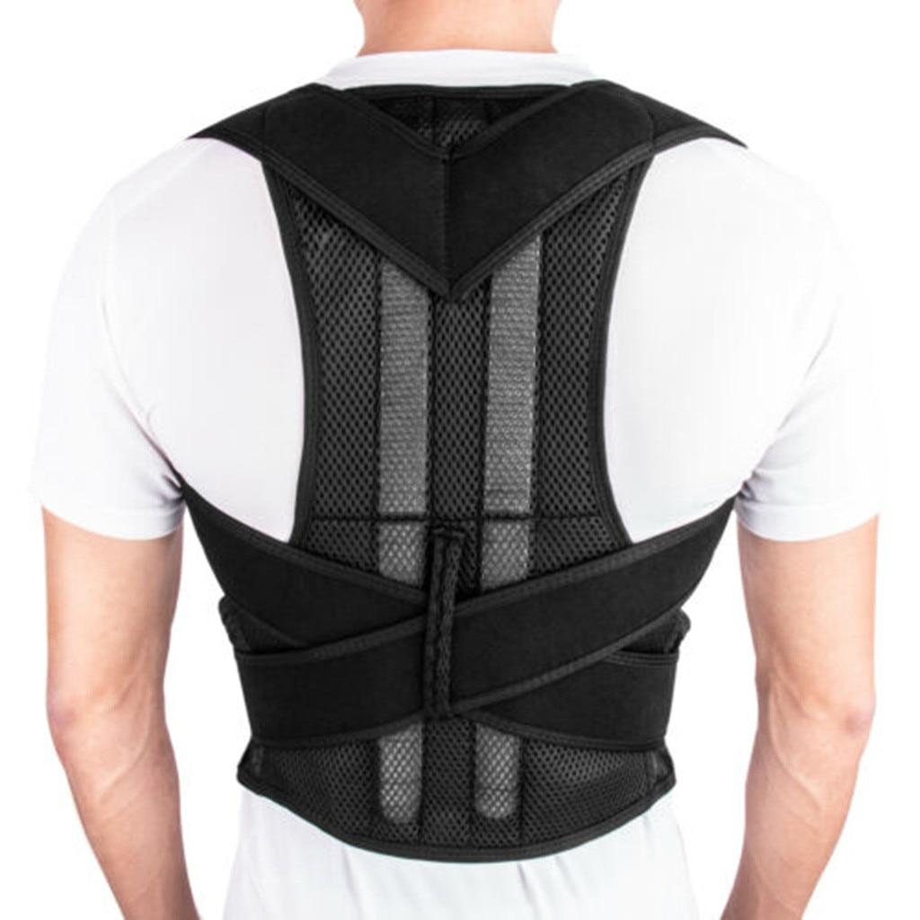 Ajustável postura traseira magnética ombro corrector suporte cinta cinto terapia masculino feminino correção impede slouching