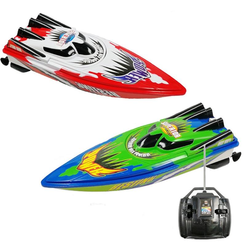 33cm RC Barco de juguete juguetes de agua RC mosquito barco juguete Speedboat escala modelo verano clásico niño juguetes 27Hmz Remove Mosquito