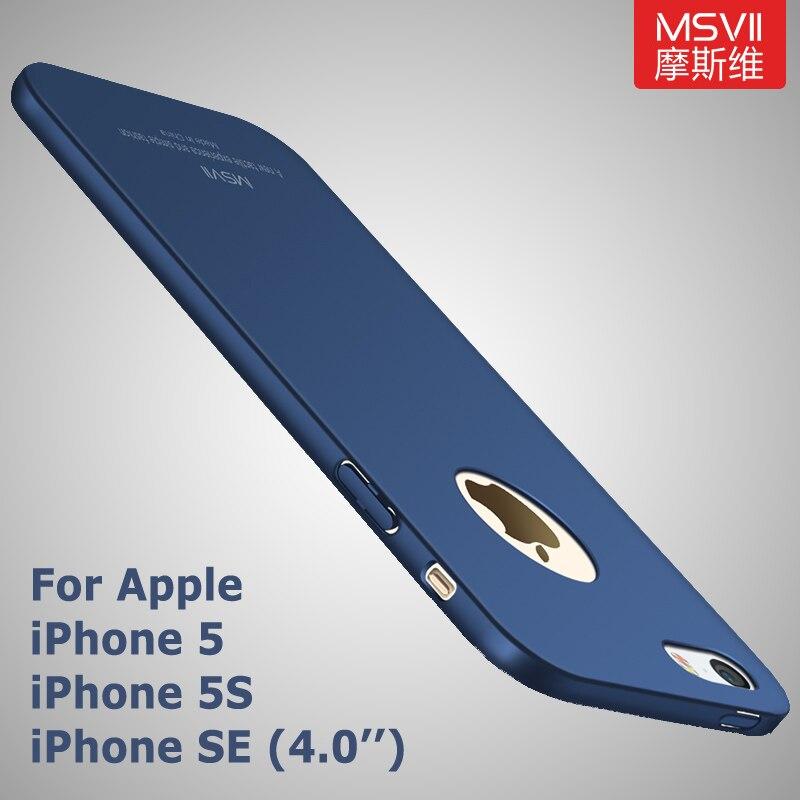 Funda Msvii Original para iphone 5s, funda ultra delgada para iphone se, funda rígida de policarbonato, funda trasera para iphone 5, funda para iphone 5se