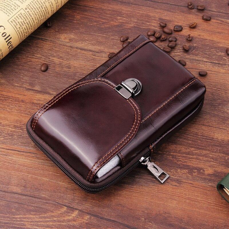 Vertical Waist Bag Holster Genuine leather Phone pouch case Oukitel K7 Power WP5000 WP2 WP1 K10 K8 K10000 Cases Belt Clip cover