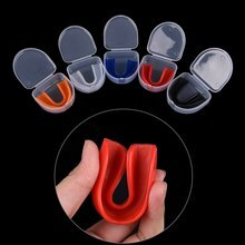 1 Set Shock Sport Gebitsbeschermer Mouth Guard Tanden Te Beschermen voor Boksen Basketbal Top Grade Gum Shield