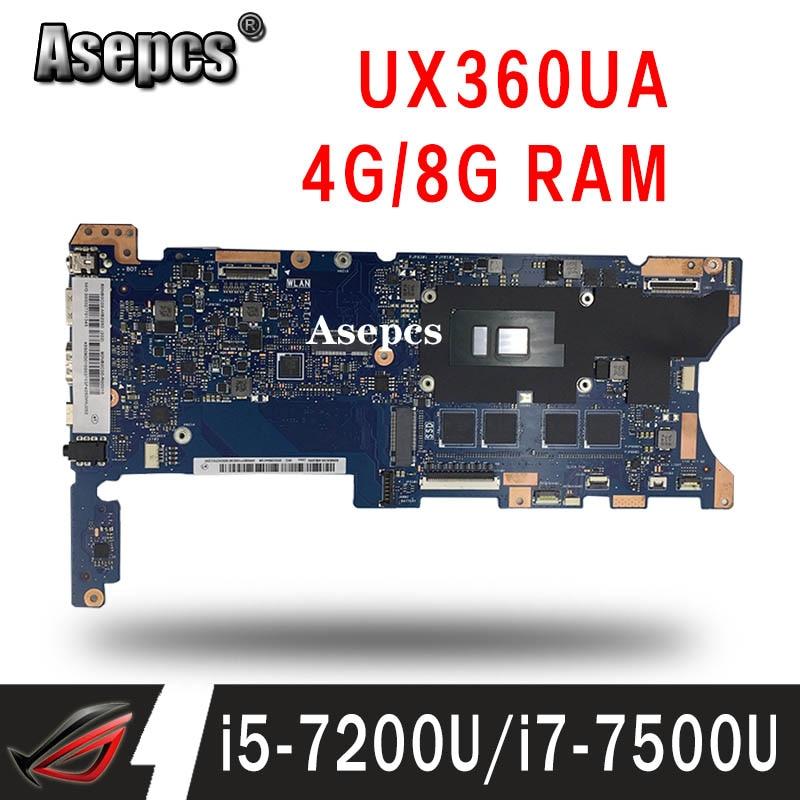 ¡Placa base de ordenador portátil para ASUS UX360UAK UX360UA UX360U Placa base con 4G 8G/i7-7500U INTERCAMBIO DE I5-7200U!