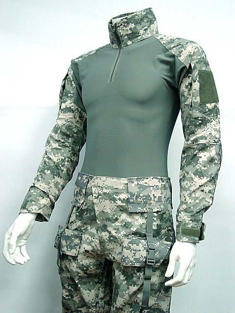 Combat Shirt&Pants Digital ACU Camo w/Elbow Knee Pad