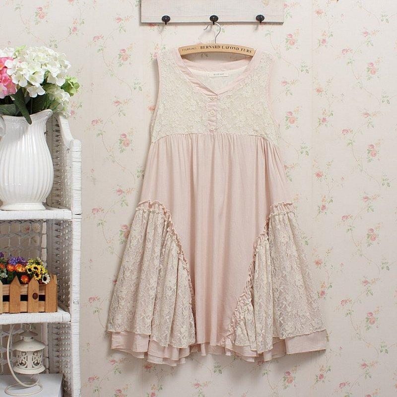 Crop top rosa azul señoras vestido de verano crochet lolita algodón Lino summmer estilo vestido azul combinaison femme roupas hippie