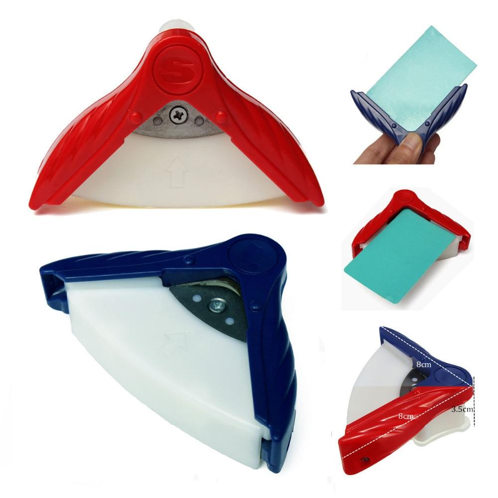 Угловой триммер, перфоратор для карт, угловая камбала, инструмент для резки бумаги, скрапбукинг, ремесло, сделай сам, машинка для стрижки, круглые офисные канцелярские принадлежности