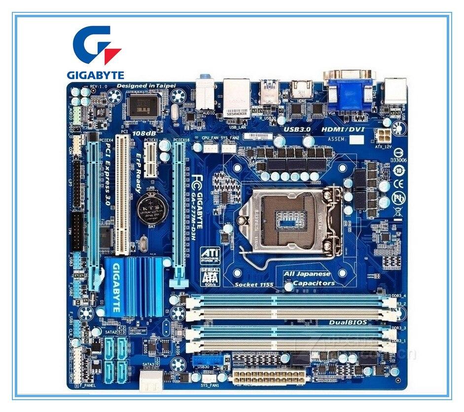Б/у оригинальная материнская плата Gigabyte GA-Z77M-D3H LGA 1155 DDR3, Z77M-D3H платы Micro-ATX Z77 для настольных ПК
