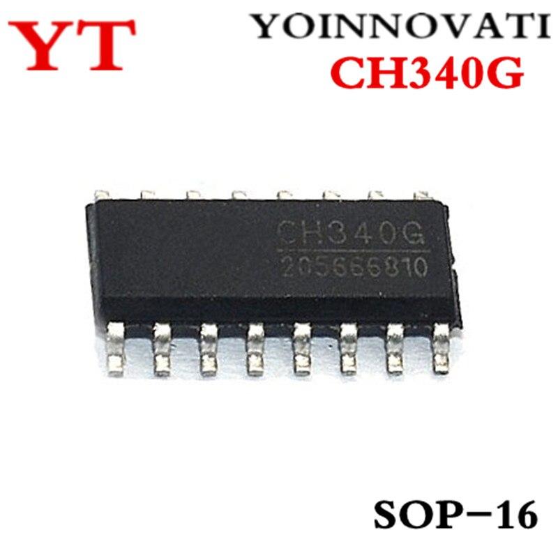 100 unids/lote CH340 CH340G SOP16 mejor calidad ic