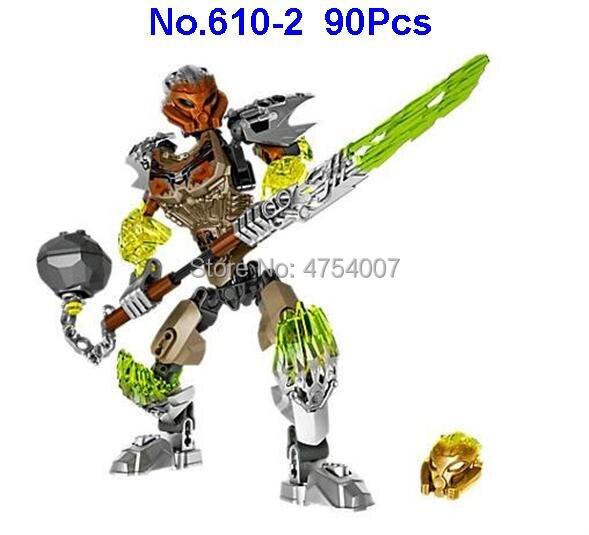 610-2 90 Uds bionicle pohatu piedra tierra guardián 71306 juguete de bloques de construcción