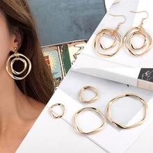 10 pièces or cercle rond breloques bricolage goujon/boucles doreilles faisant des accessoires de cheveux connecteurs pendentifs résultats de bijoux pour les femmes
