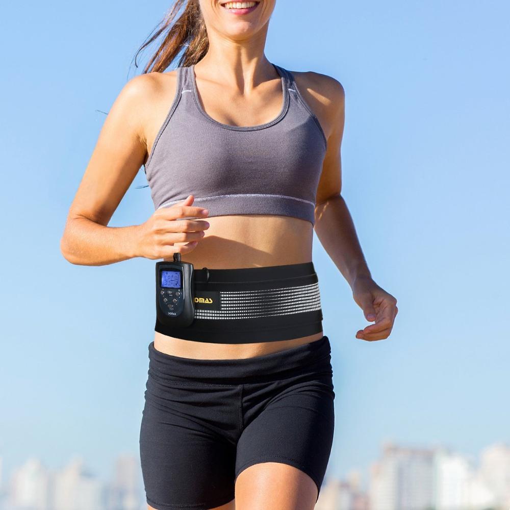 DOMAS 9065N Ab cinturón Abs estimulador electrónico de músculo Abdominal cinturón de tonificación para hombres y mujeres