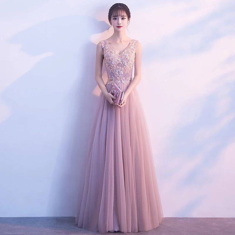 فستان صيفي نسائي طويل نحيف لوصيفات العروس ، فستان سهرة ، مأدبة ، توست ، 2020