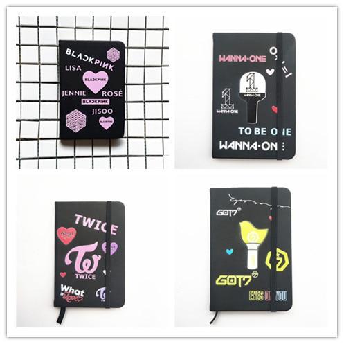 Блокнот из искусственной кожи, школьные принадлежности, блокнот с мультяшными рисунками в подарок Kpop, новый K-pop
