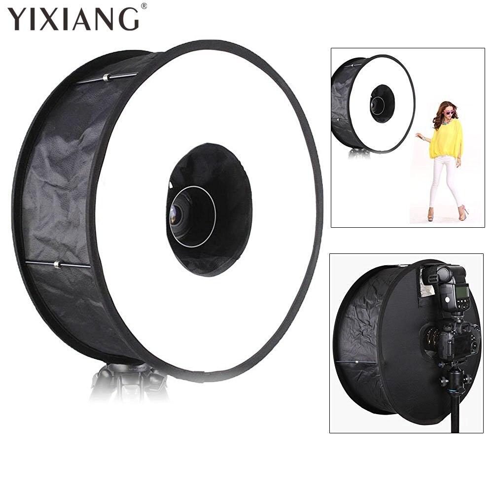 "Caja difusora de anillo YIXIANG para Flash SpeedLite 45cm 18 "", caja difusora plegable para Macro disparo para Canon Nikon Yongnuo Speedlight"