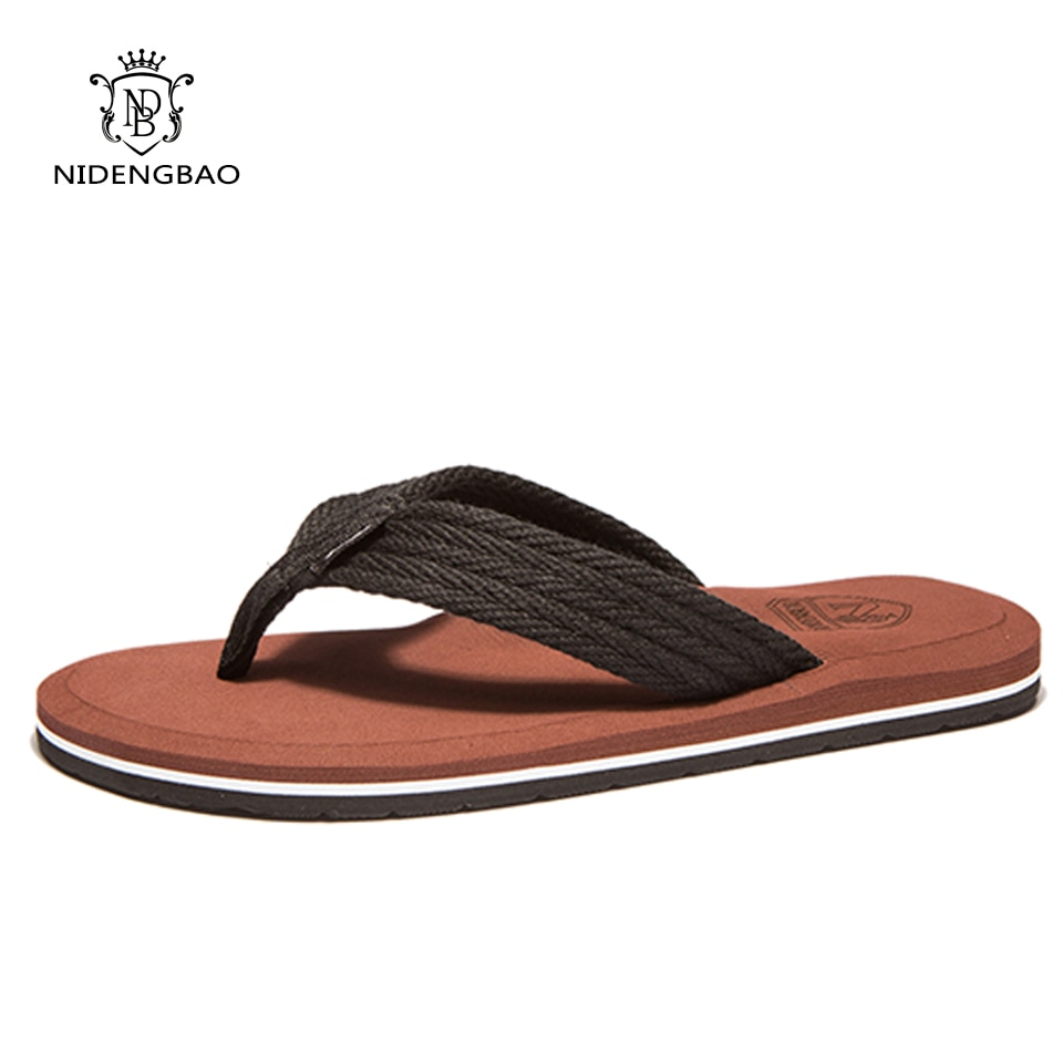 NEEDBO Flat Flip Flops Sandals Casual Men Slippers Shoes Comfortable Summer Beach Sapatos Hembre sapatenis masculino