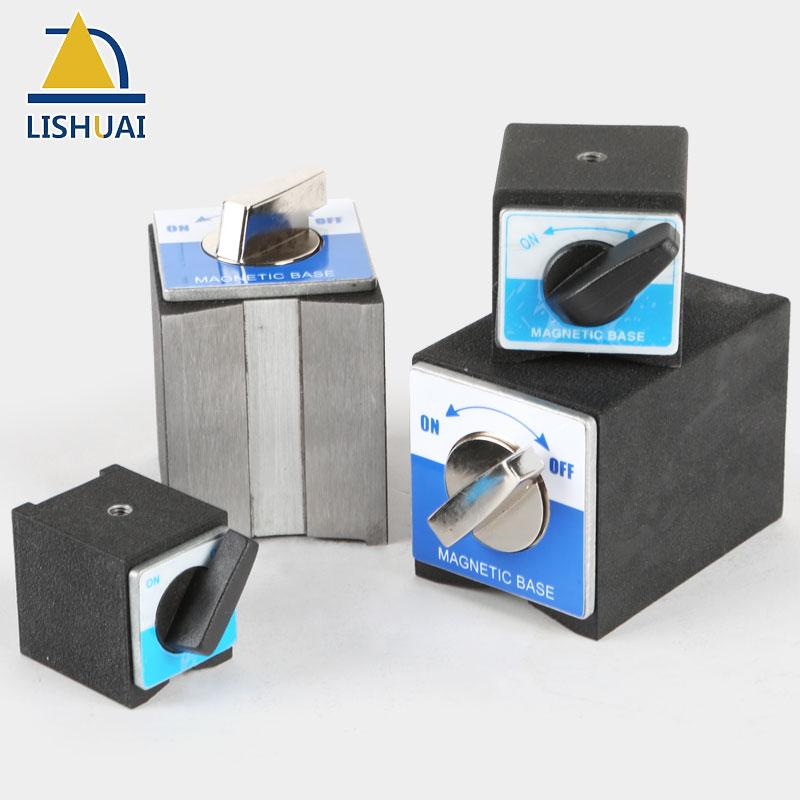 Soporte de Base magnética de encendido/apagado LISHUAI, abrazadera indicadora de imán de neodimio conmutable, 30 kg/50 kg/80 kg/100 kg