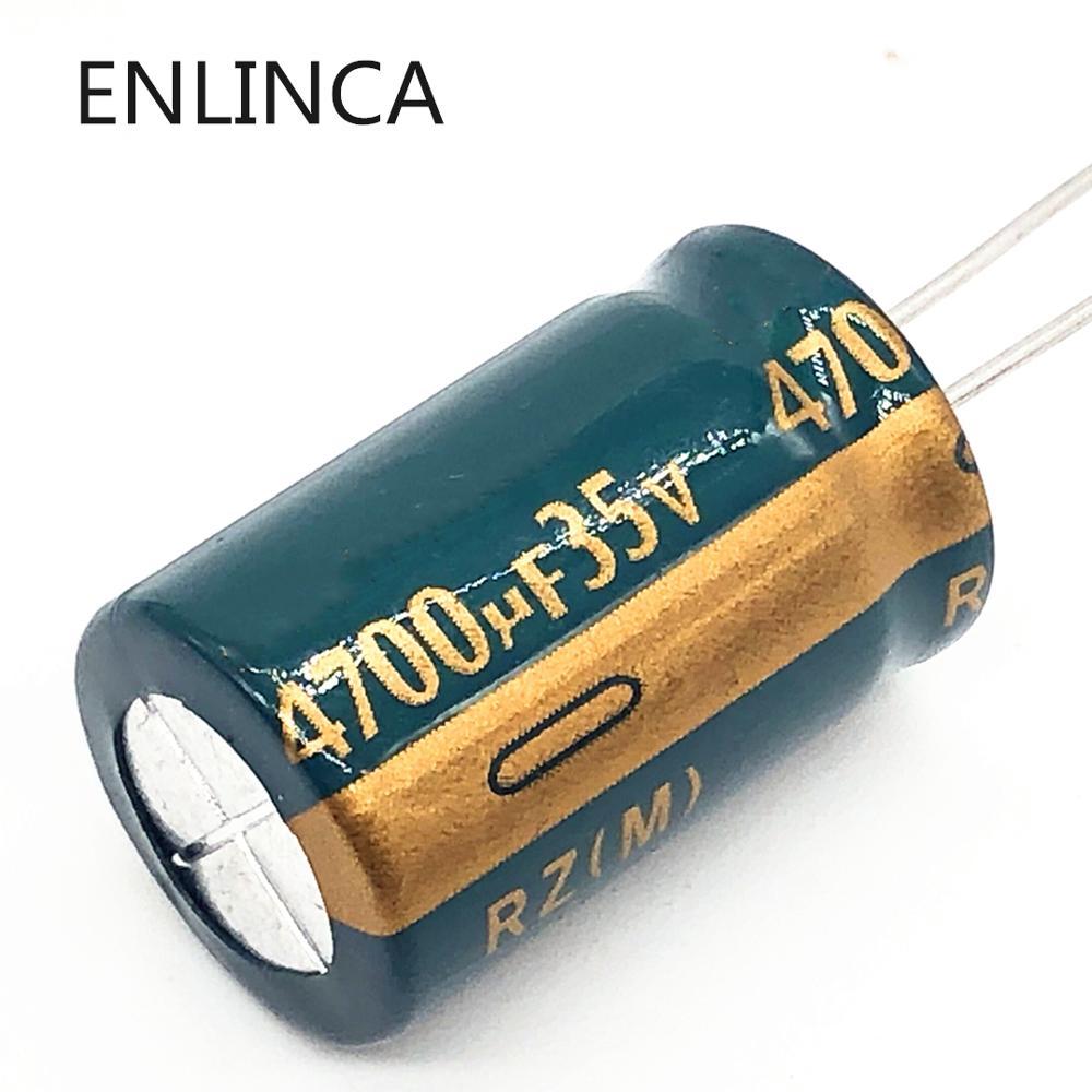 12 pçs/lote P55 Low ESR/Impedância de alta freqüência 4700UF35V 35v 4700UF capacitor eletrolítico de alumínio 20%
